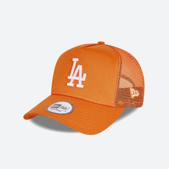 כובע ניו ארה לגברים New Era Tonal Mesh Trucker Los Angeles Dodgers - כתום