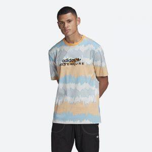 חולצת T אדידס לגברים Adidas Originals Adventure Archive Printed Tee - צבעוני בהיר