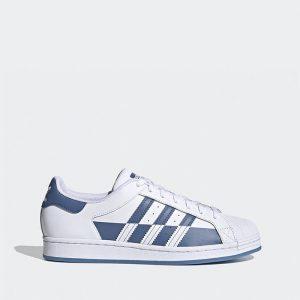 נעלי סניקרס אדידס לגברים Adidas Superstar - כחול/לבן