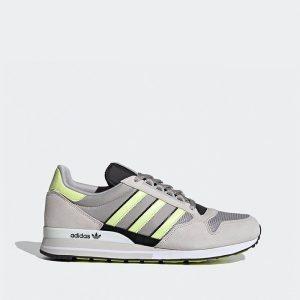נעלי סניקרס אדידס לגברים Adidas ZX 500 - אפור/צהוב