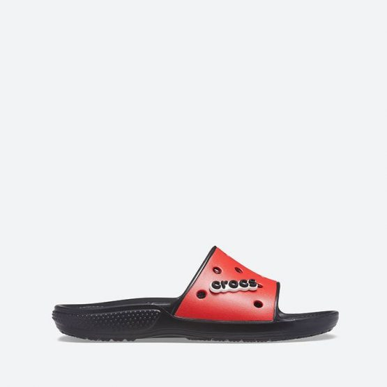 כפכפי Crocs לגברים Crocs Colorblock Slide - שחור/אדום