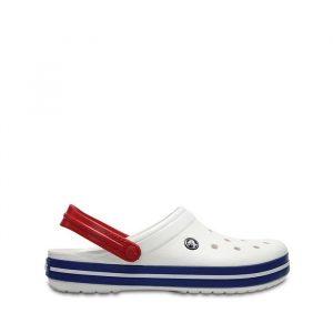 כפכפי Crocs לגברים Crocs Crocband - לבן  כחול  אדום