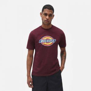 חולצת T Dickies לגברים Dickies Icon Logo - בורדו