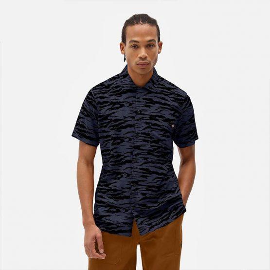 חולצה מכופתרת Dickies לגברים Dickies Quamba - כחול