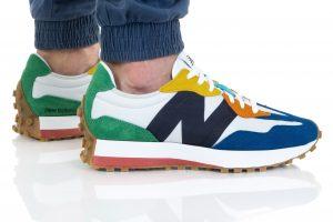 נעלי סניקרס ניו באלאנס לגברים New Balance MS327 - צבעוני/לבן