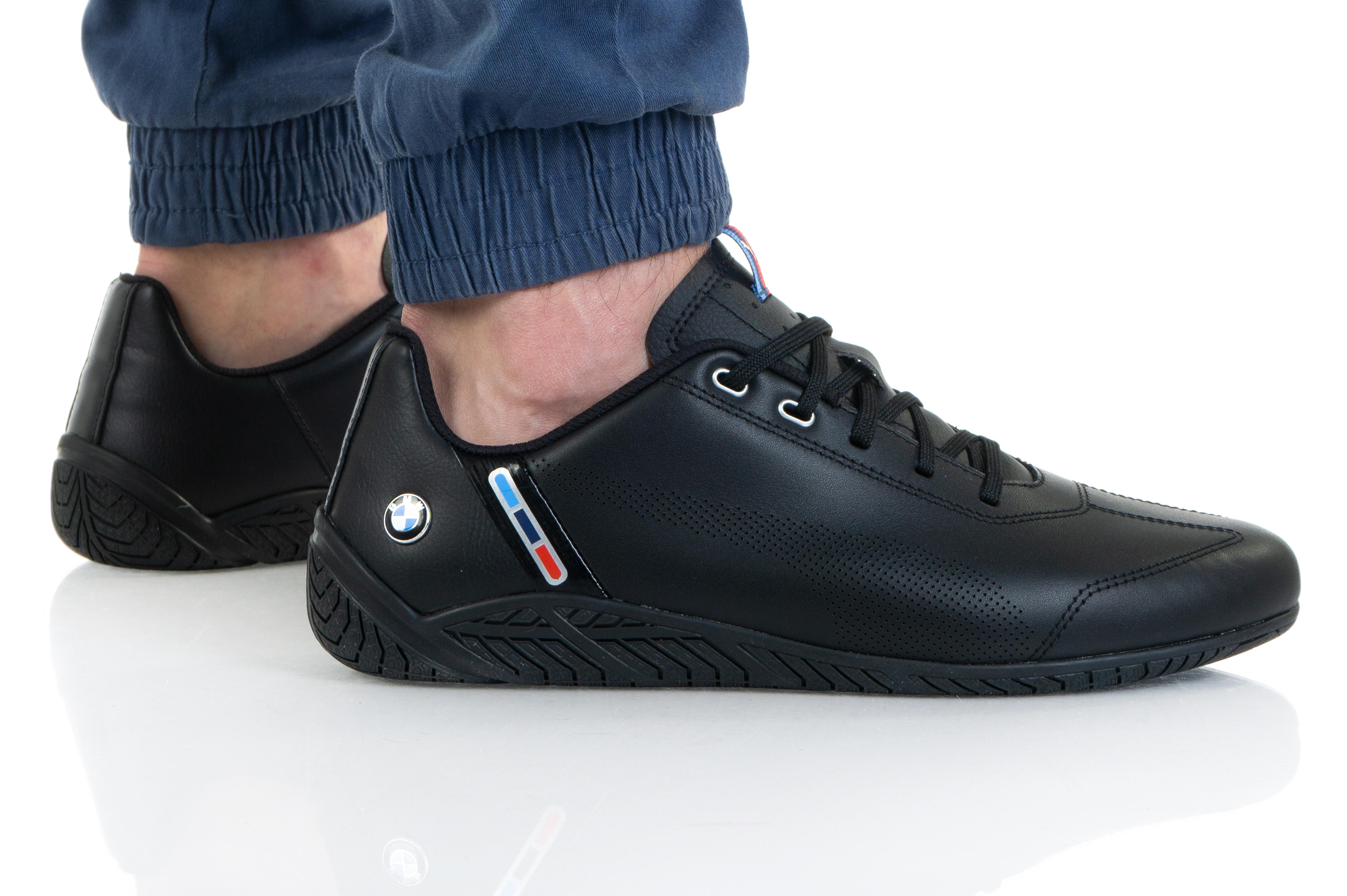 נעלי סניקרס פומה לגברים PUMA BMW MMS RDG CAT - שחור