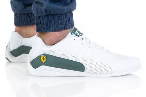 נעלי סניקרס פומה לגברים PUMA FERRARI DRIFT CAT 8 - לבן