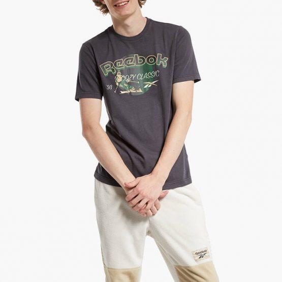 חולצת T ריבוק לגברים Reebok Classics Winter Escape Tee - אפור כהה