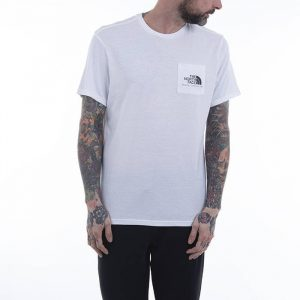 חולצת T דה נורת פיס לגברים The North Face Berkeley California Pocket Tee - לבן