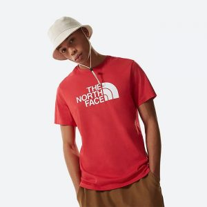 חולצת T דה נורת פיס לגברים The North Face S/S Easy Tee Rococco - אדום