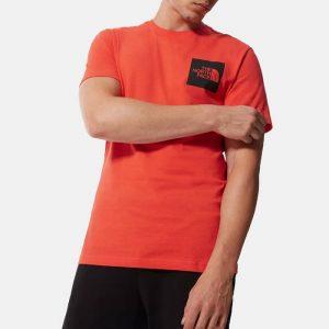 חולצת T דה נורת פיס לגברים The North Face S/S Fine Tee - כתום