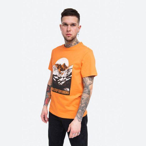 חולצת T דה נורת פיס לגברים The North Face S/S Natural Wonders - כתום