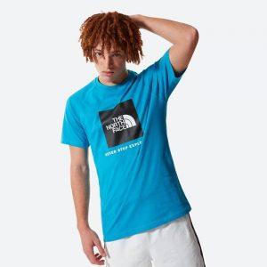 חולצת T דה נורת פיס לגברים The North Face SS Rag Red Box Tee - תכלת