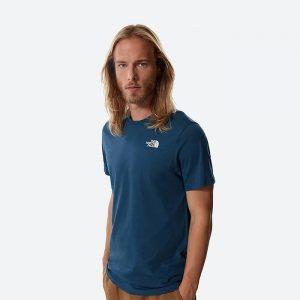חולצת T דה נורת פיס לגברים The North Face SS Redbox Cel Tee Monterey - כחול