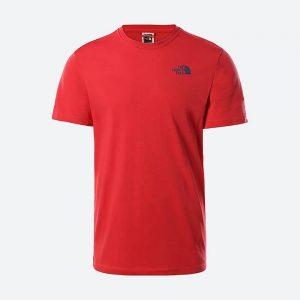 חולצת T דה נורת פיס לגברים The North Face SS Redbox Cel Tee Rococco - אדום