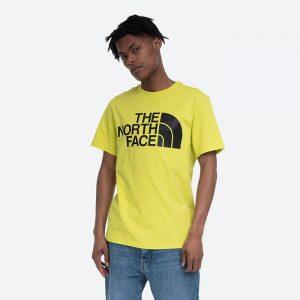 חולצת T דה נורת פיס לגברים The North Face Standard SS Tee - צהוב/שחור