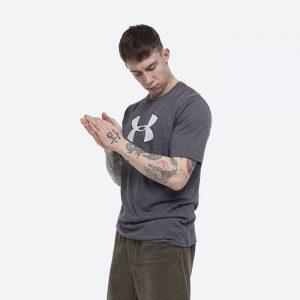 חולצת T אנדר ארמור לגברים Under Armour Big Logo SS - אפור כהה