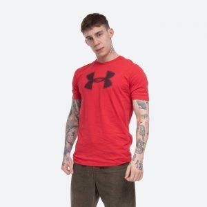 חולצת T אנדר ארמור לגברים Under Armour Big Logo SS - אדום