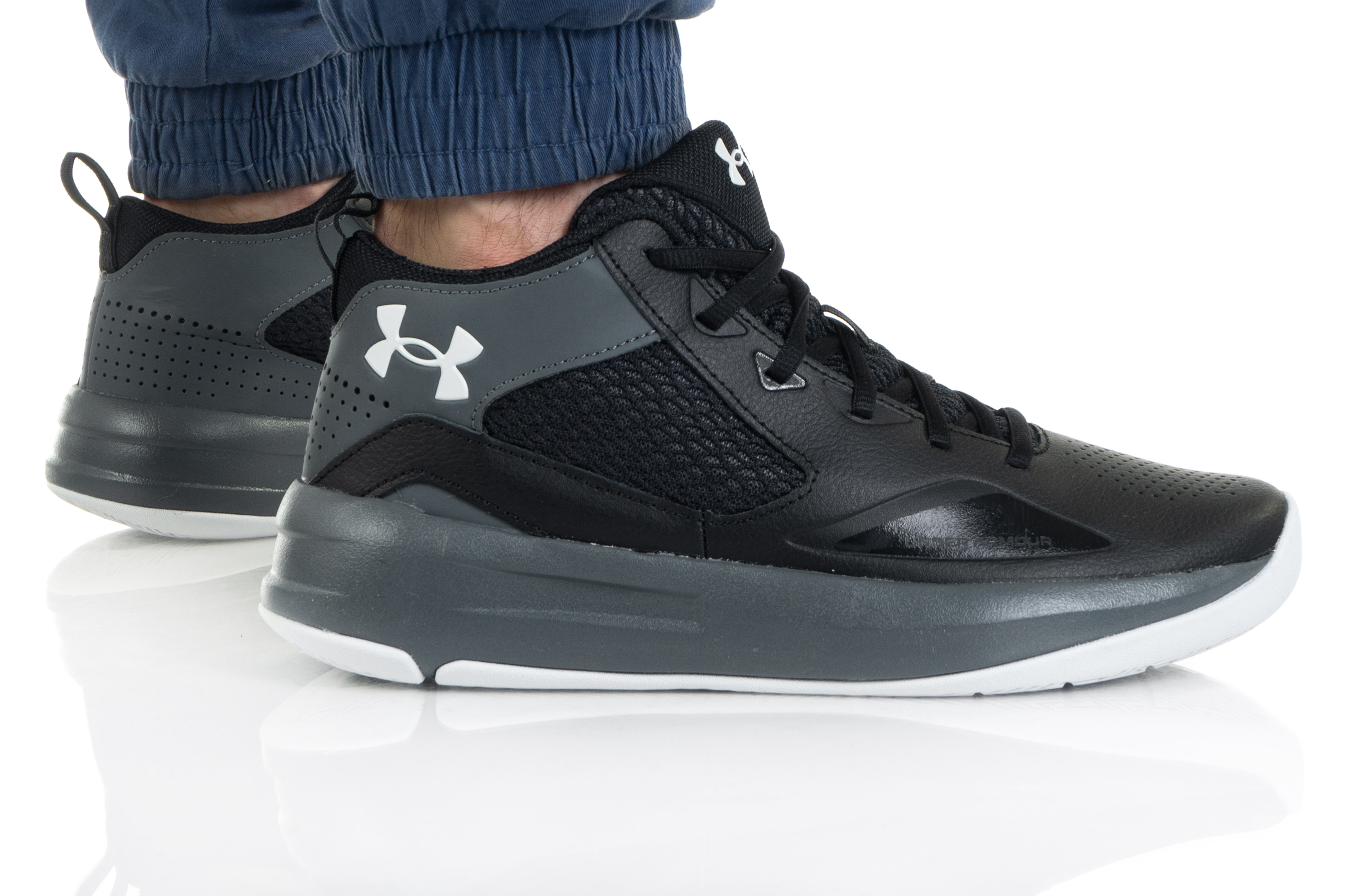 נעלי כדורסל אנדר ארמור לגברים Under Armour Lockdown 5 - שחור