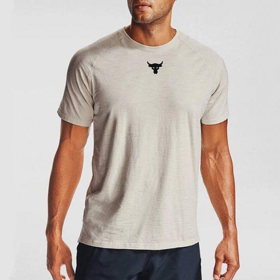 חולצת T אנדר ארמור לגברים Under Armour Project Rock Cc Ss - שחור