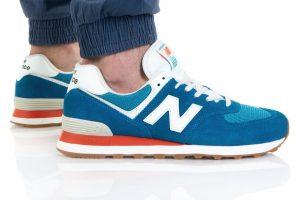 נעלי סניקרס ניו באלאנס לגברים New Balance ML574 - תכלת
