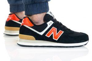 נעלי סניקרס ניו באלאנס לגברים New Balance ML574 - שחור/כתום