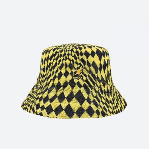 כובע קנגול לגברים Kangol Warped Check Bucket - כחול