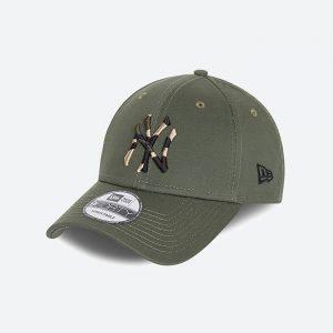 כובע ניו ארה לגברים New Era Camo Infill 9Forty  York Yankees - ירוק