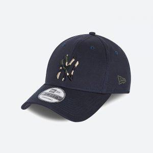 כובע ניו ארה לגברים New Era Camo Infill 9Forty  York Yankees - כחול כהה