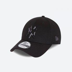 כובע ניו ארה לגברים New Era Camo Infill 9Forty  York Yankees - שחור