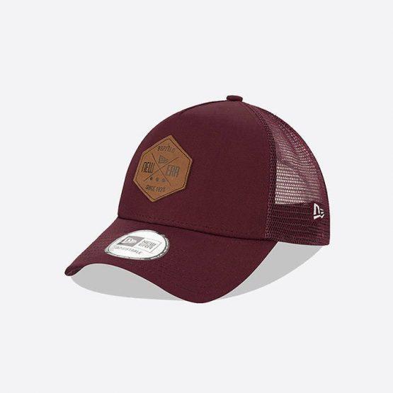 כובע ניו ארה לגברים New Era Heritage Patch 940 - בורדו