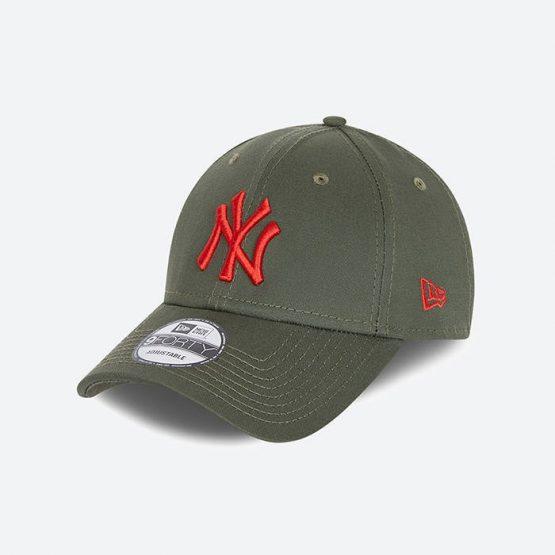 כובע ניו ארה לגברים New Era League Essential 9Forty  York Yankees - ירוק זית