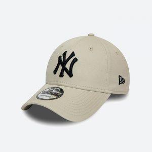 כובע ניו ארה לגברים New Era League Essential  York Yankees - אפור בהיר