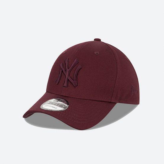 כובע ניו ארה לגברים New Era League Essential  York Yankees - בורדו