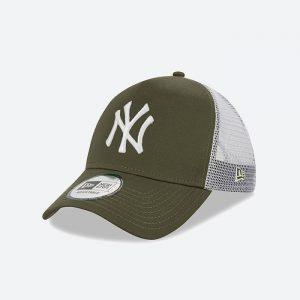כובע ניו ארה לגברים New Era League Essential  York Yankees - לבן/ירוק