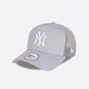 כובע ניו ארה לגברים New Era Tonal Mesh Trucker York Yankees - אפור בהיר