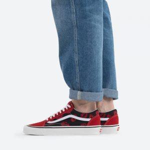 נעלי סניקרס ואנס לגברים Vans Anaheim UA Old Skool 36 DX - שחור/אדום