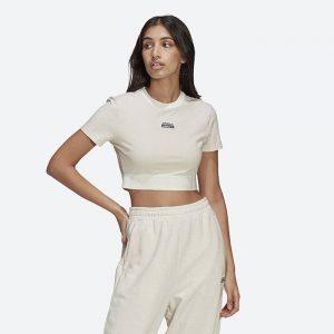 חולצת T אדידס לנשים Adidas R.Y.V. Cropped - לבן