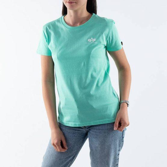 חולצת T אלפא אינדסטריז לנשים Alpha Industries Basic T - ירוק