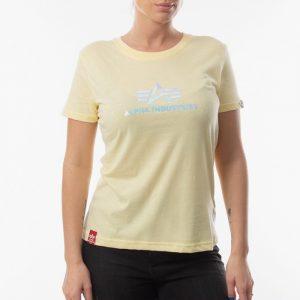 חולצת T אלפא אינדסטריז לנשים Alpha Industries Rainbow - צהוב