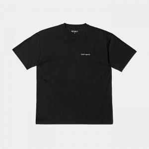 חולצת T קארהארט לנשים Carhartt WIP S/S Script Embroidery - שחור