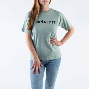 חולצת T קארהארט לנשים Carhartt WIP S/S Script - ירוק