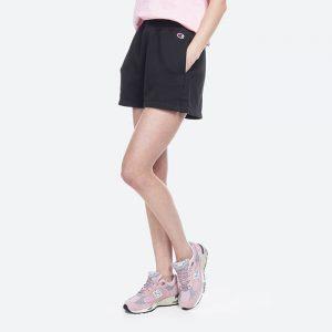 מכנס ספורט צ'מפיון לנשים Champion Shorts - שחור הדפס