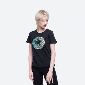 חולצת T קונברס לנשים Converse Leopard Chuck Taylor Patch Tee - לבן