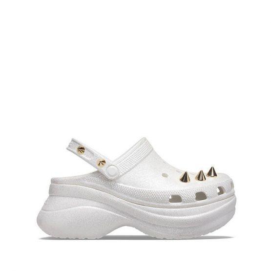 כפכפי Crocs לנשים Crocs Bae Glitter Stud Clog - לבן