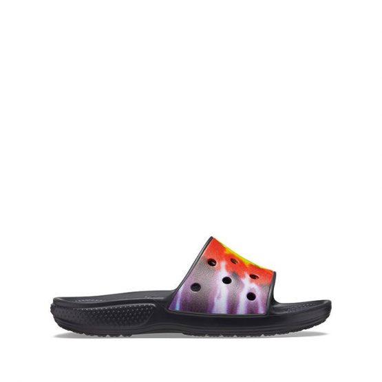 כפכפי Crocs לנשים Crocs Classic Tie Dye Graphic Slide - שחור