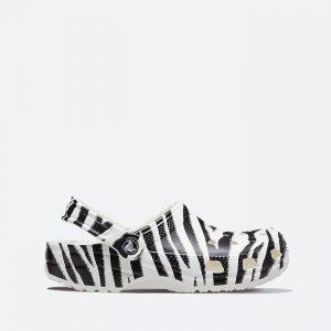 כפכפי Crocs לנשים Crocs Classic - שחור/לבן