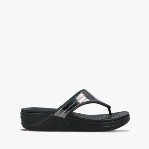 כפכפי Crocs לנשים Crocs Monterey Metallic - שחור/כסף