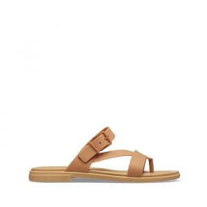 סנדלים Crocs לנשים Crocs Tulum Toe Post - חום