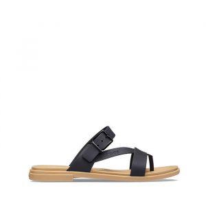 סנדלים Crocs לנשים Crocs Tulum Toe - שחור